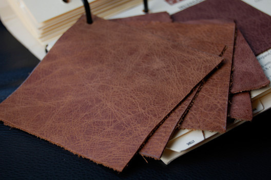 Eames distressed brown leather