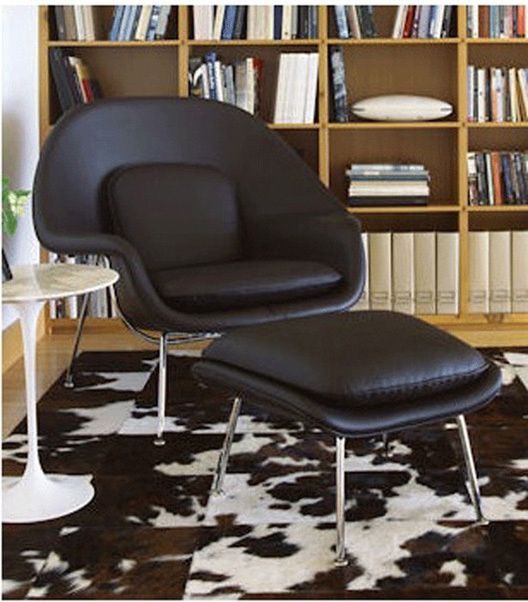 Black womb chair
