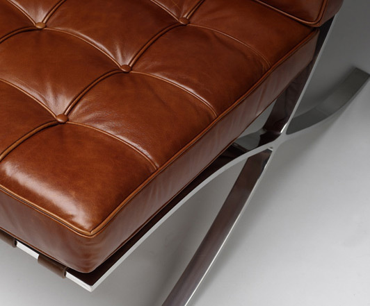 Chair barcelona vintage leather