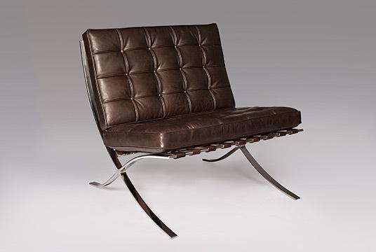 Dark brown barcelona chair1