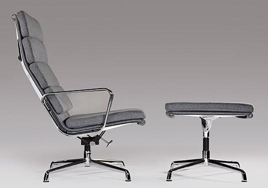 Ea222 chair grey wool