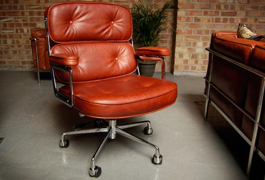 Eames lobby chair 001