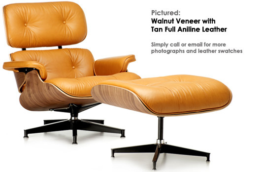 Eames lounger tan walnut