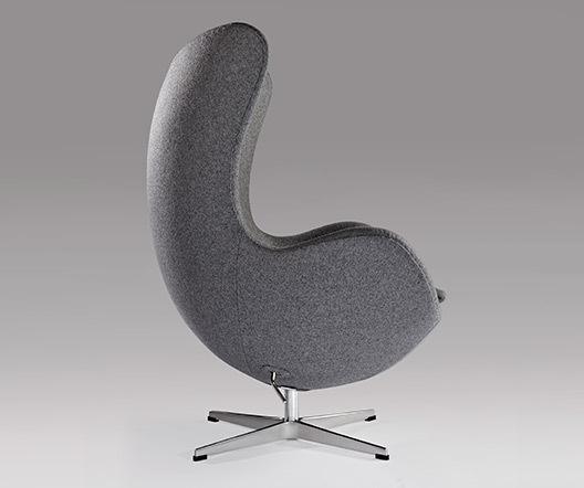 Egg chair grey fabric