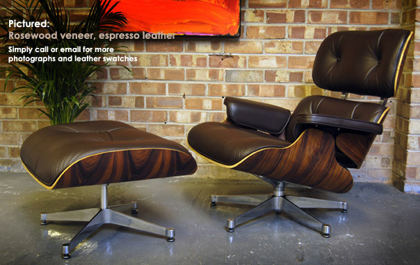 Polished base eames lounge