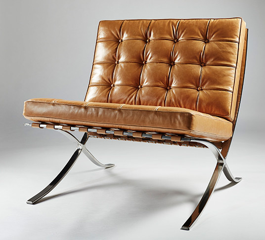 Tan barcelona chair