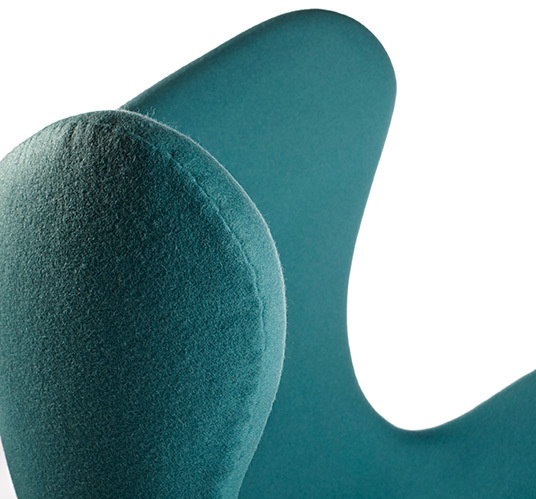 Turquoise egg chair