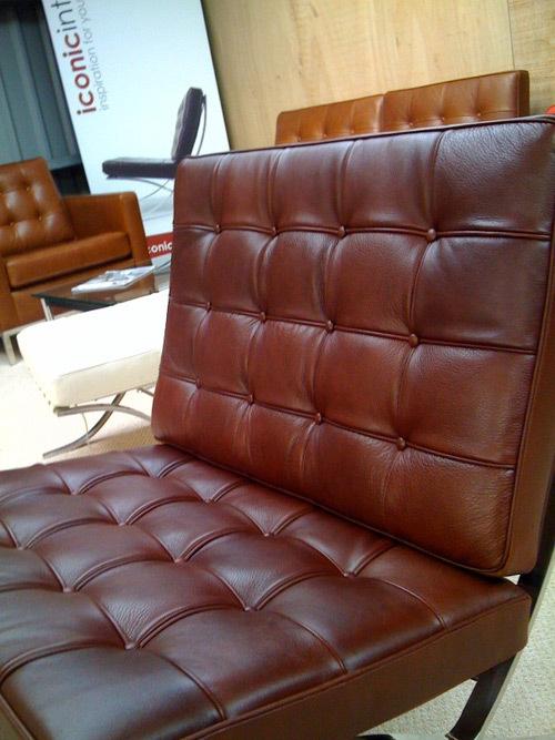 Vintage brown barcelona chair