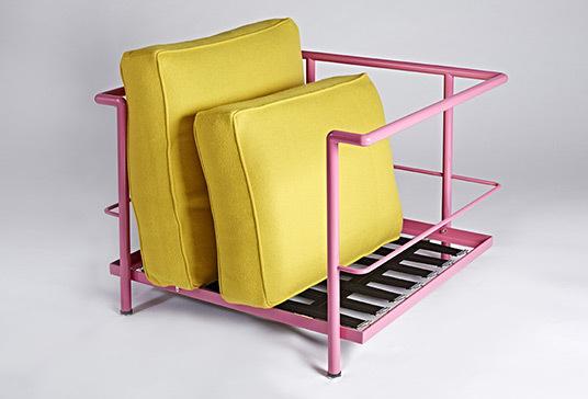 Yellow corbusier chair