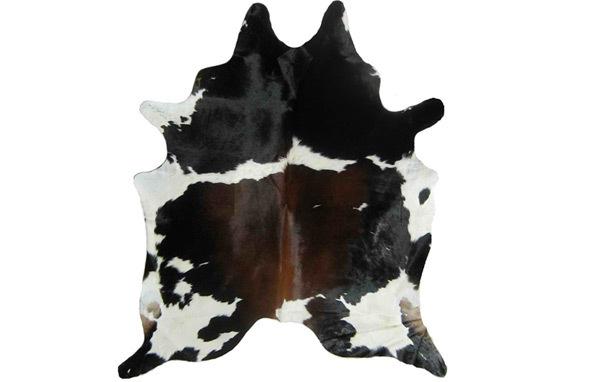 Brown black white cow rugCowhide Rug