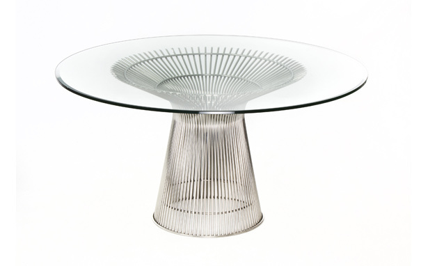 Photograph of Warren Platner Style Dining Table