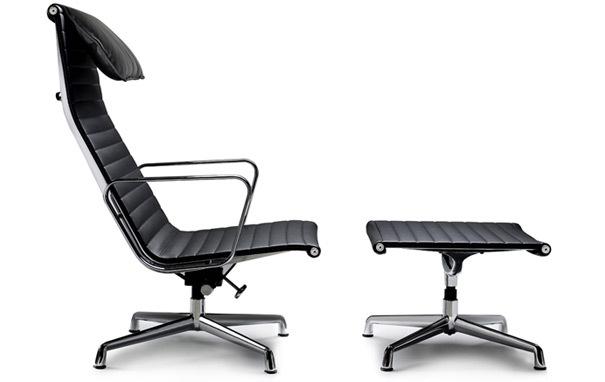 Photograph of Eames Style EA124 Lounge Chair and EA125 Ottoman