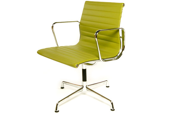 Eames 108 office chairEames Style EA108 Aluminium Office Chair With Arms