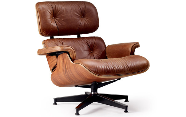 Photograph of Eames Style Lounge Chair & Ottoman