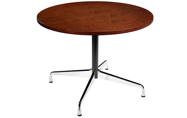 Photograph of Charles Eames Style Round Meeting Table