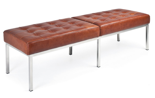 Photograph of Florence Knoll Style 3-Seat Bench