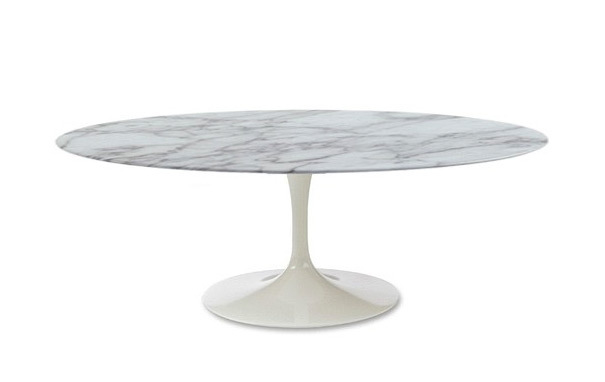 Photograph of Marble Tulip Dining Table - Oval