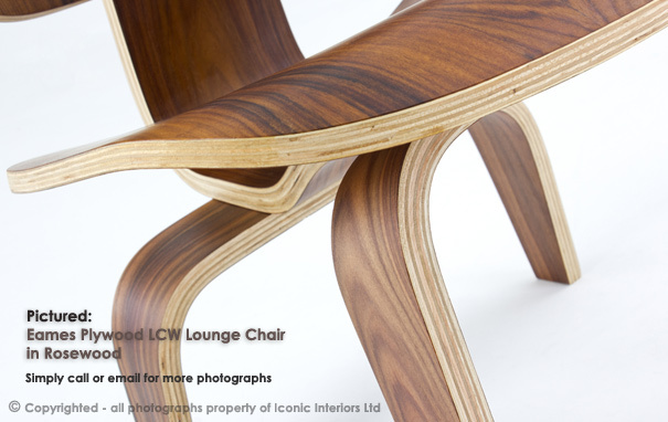 Iconic Interiors Eames Style Plywood LCW Lounge Chair