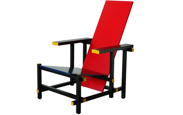 Photograph of Red and Blue Chair