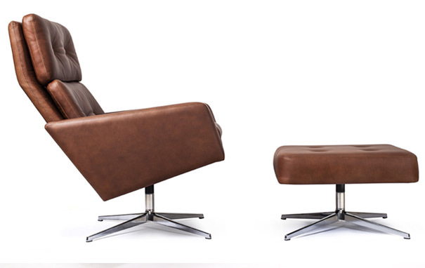 Photograph of Leo chair and ottoman