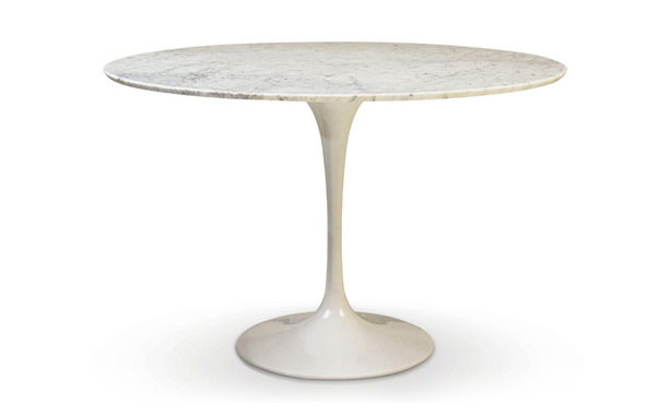 Photograph of Marble Tulip Table - Round