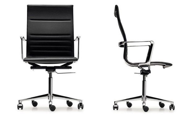 Photograph of ICF UNA Leather High Backed Office Chairs